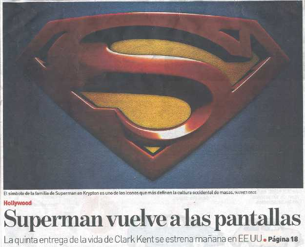 SUPERMAN RETURNS EN ADN