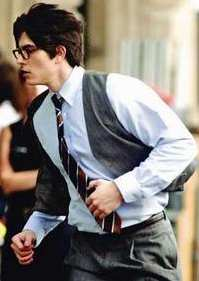 BRANDON ROUTH AS CLARK KENT