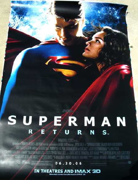 SUPERMAN RETURNS BUS POSTER