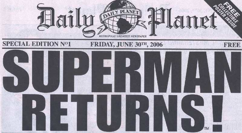 SUPERMAN RETURNS EN EL DAILY PLANET