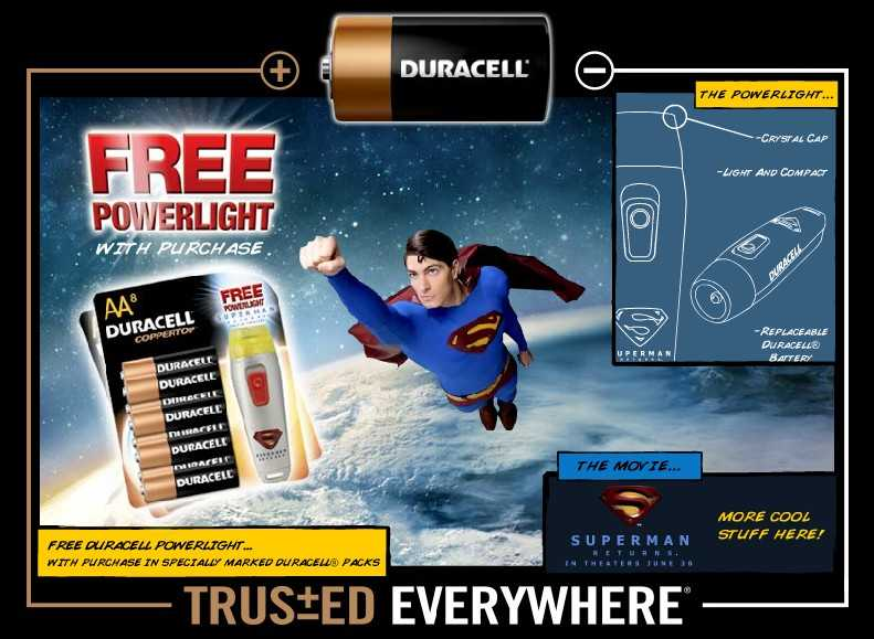 SUPERMAN RETURNS EN DURACELL