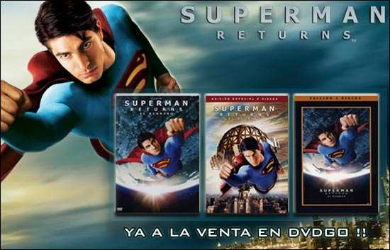 Superman Returns en DVDGO