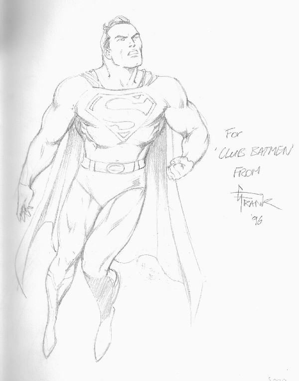 SUPERMAN POR GARY FRANK PARA EL CLUB BATMAN