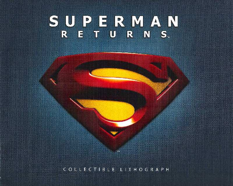SUPERMAN RETURNS LITOGRAFIA