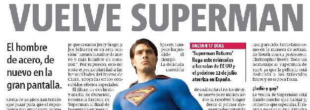SUPERMAN RETURNS EN METRO