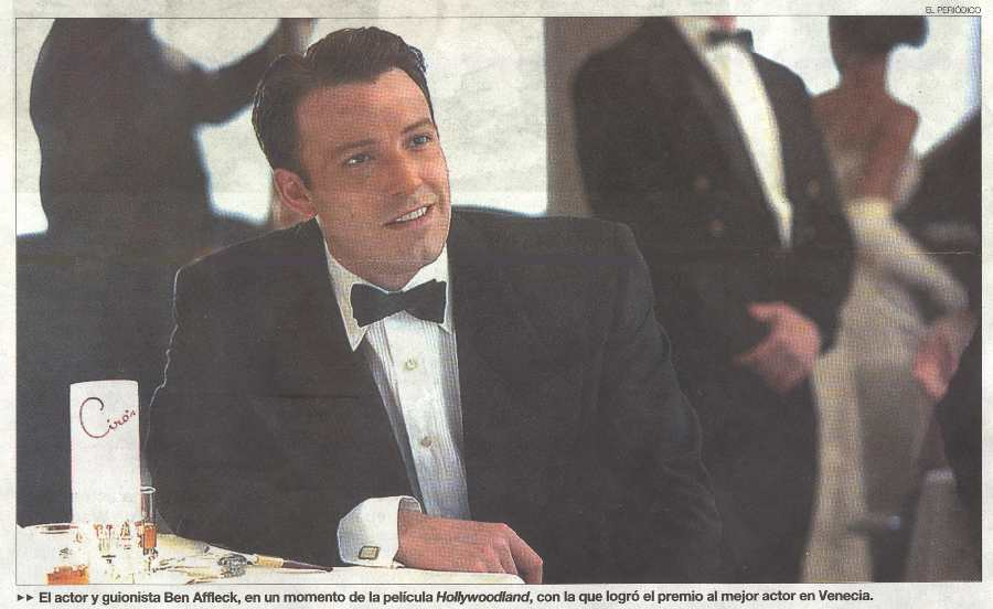 BEN AFFLECK COMO GEORGE REEVES EN HOLLYWOODLAND