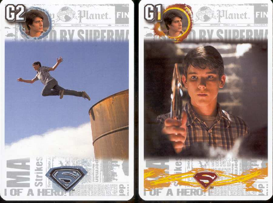 SUPERMAN RETURNS CARDS FROM POLONIA