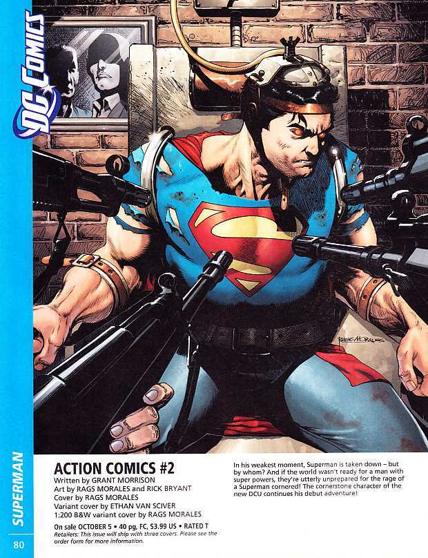 ACTION COMICS #2 COVER ART