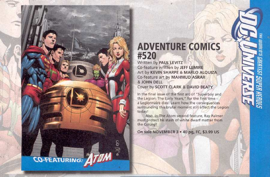 ADVENTURE COMICS #520 ART