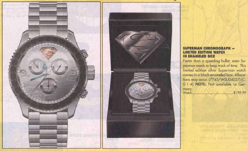 RELOJ CRONOMETRO DE SUPERMAN