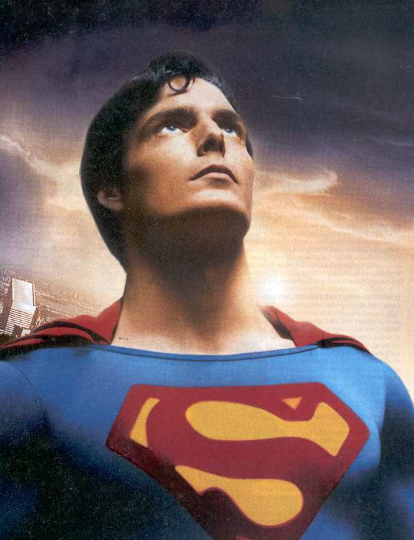 CHRIS REEVE AS SUPERMAN