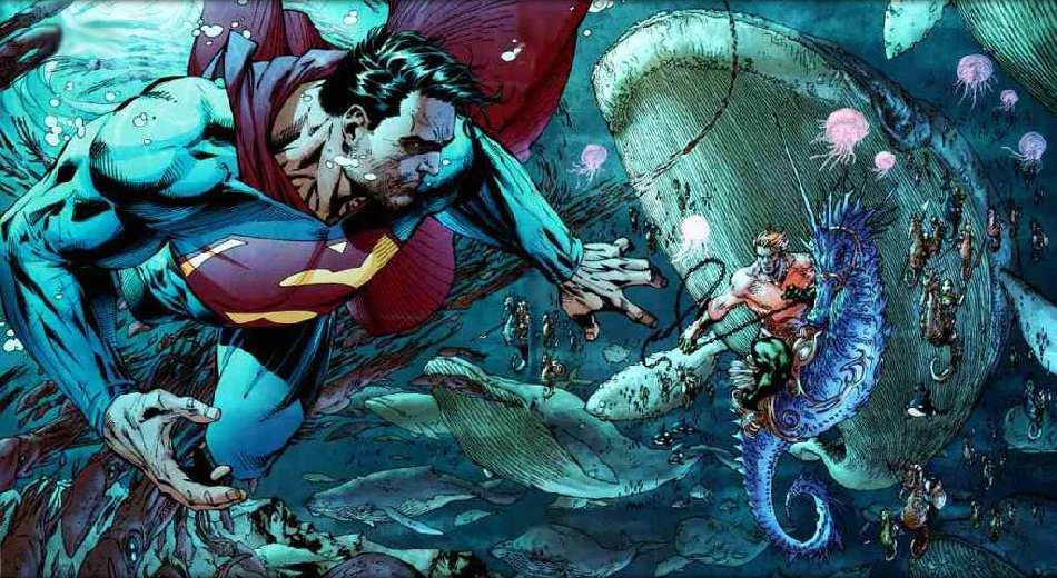 SUPERMAN Y AQUAMAN BY JIM LEE