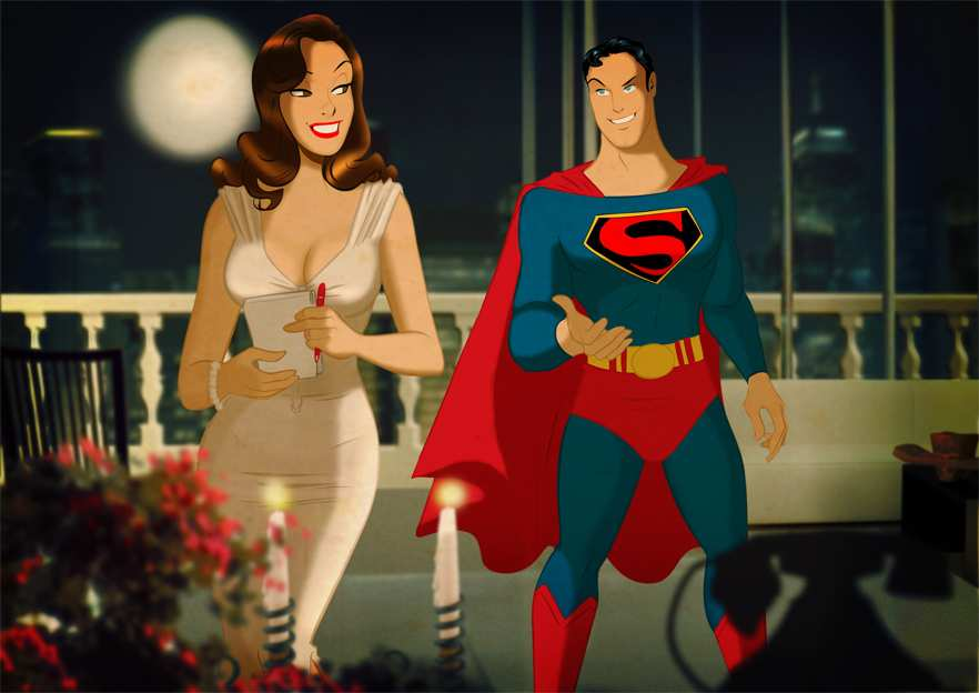 SUPERMAN AND LOIS BY DES TAYLOR